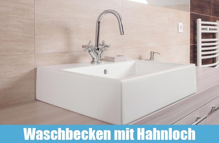 Aufsatzwaschbecken mit Hahnloch