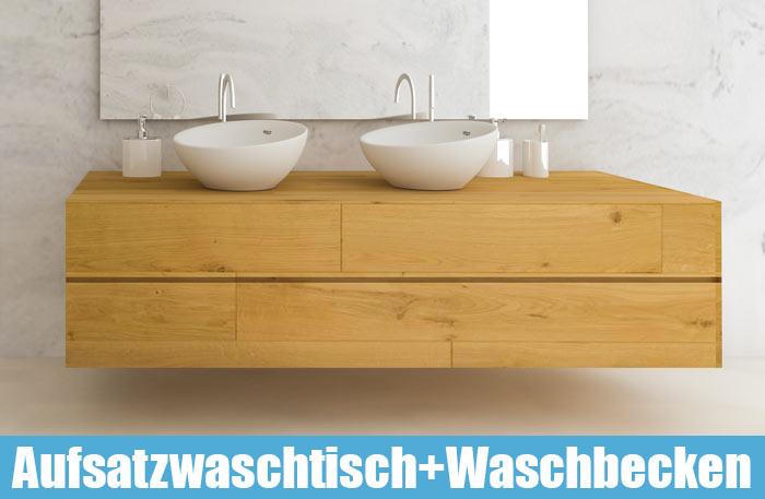Aufsatzwaschtisch mit Aufsatzwaschbecken