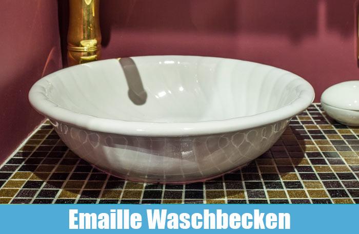 Emaillewaschbecken