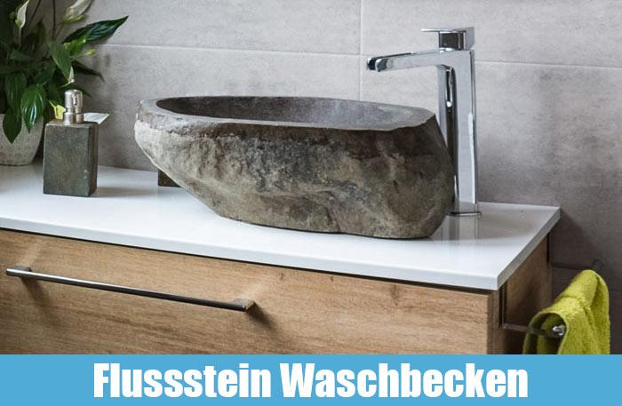 Flussstein Waschbecken