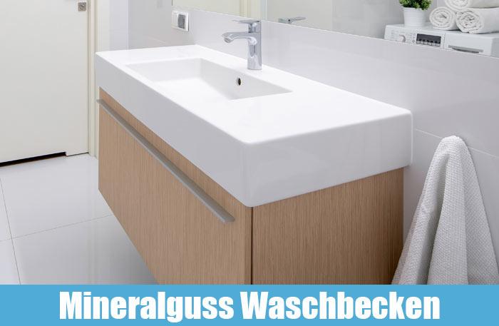 Mineralguss Waschbecken & Mineralguss Waschtisch