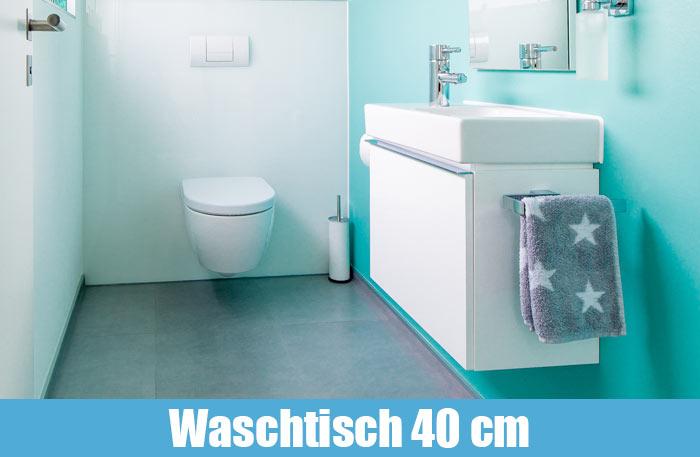 Waschtisch 40 cm - Waschbecken 40cm breit / tief